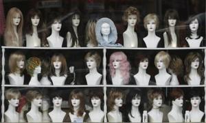 wig shop mannequins
