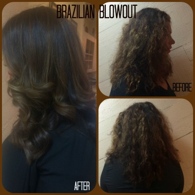 Vanessa Brazilian Blowout Collage